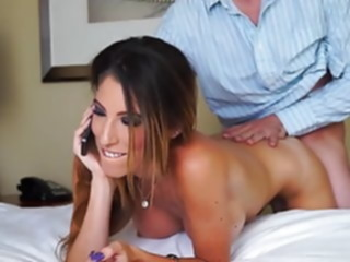 milf Fucked While Talking On The.. cuckold