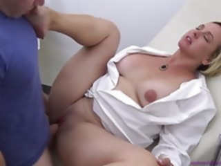 cumshot Doctor Mom Examines Step Son.. milf